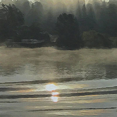 Digital Art - Fog On The River by Alan Lakin