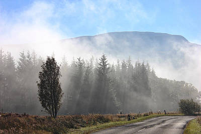Fog On The Road To Fintry Art Print
