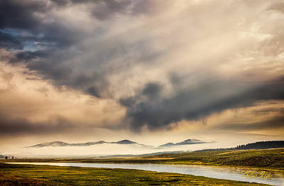 Photograph - Fog On The Yellowstone by Rikk Flohr