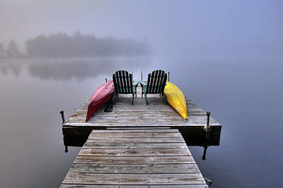 Photograph - Fog On West Lake by David Patterson