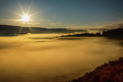 Photograph - Fog On Yellowstone Lake by James BO Insogna