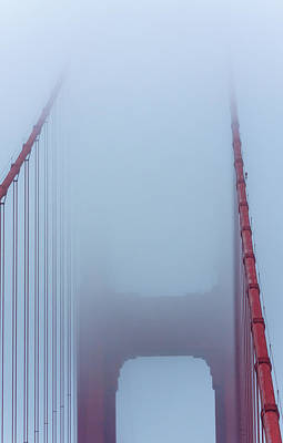 Photograph - Fog Over Golden Gate by Jonathan Nguyen
