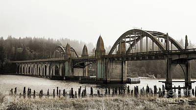 Photograph - Fog Over Gothic Bridge by Jerry Cowart