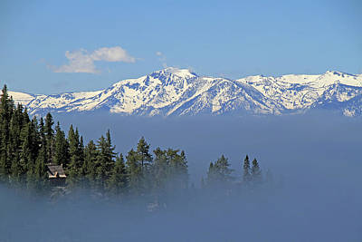 Fog Over Lake Tahoe Art Print by Donna Kennedy