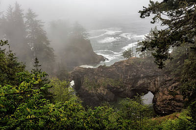 Photograph - Fog Over Natural Bridges by Belinda Greb