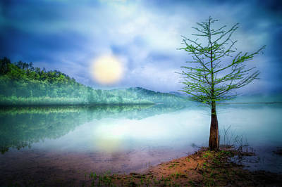 Photograph - Fog Over The Lake by Debra and Dave Vanderlaan