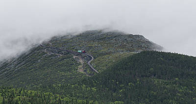 Photograph - Fog Over The Mount Washington Cog Railway by Brian MacLean
