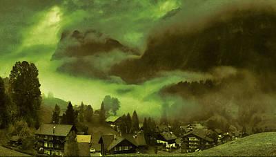 Digital Art - Fog Over The Village by Mario Carini