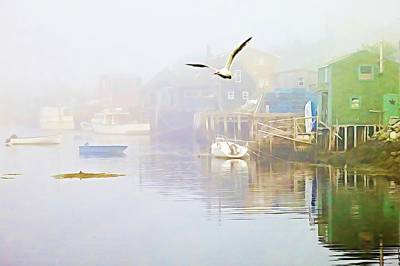 Photograph - Fog Over West Dover - Digital Paint by Tatiana Travelways