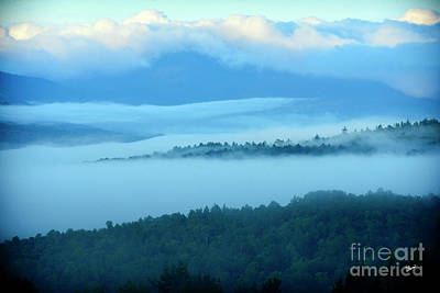 Maine Landscapes Photograph - Fog Rolling Over The Hills  by Alana Ranney