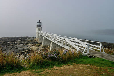 Photograph - Fog Rolls In At Marshall Point Lighthouse In Maine by Marilyn Burton