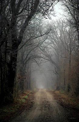 Fog Shrouded Lane  7861 Dp_2 Art Print