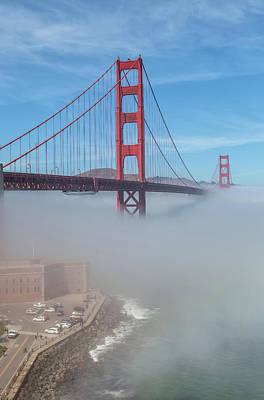 Photograph - Fog Under Golden Gate by Jonathan Nguyen