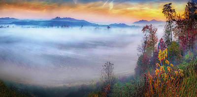 Photograph - Fog Valley by William Schmid