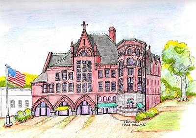 Drawing - Fogg Building Weymouth by Paul Meinerth
