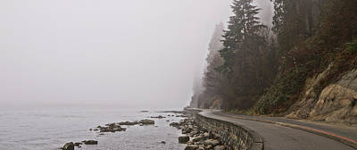 Photograph - Fogged In Seawall by Cameron Wood