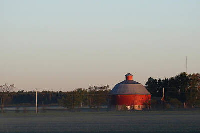 Photograph - Fogggy Morning Farm by Brook Burling