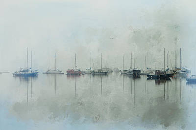 Mixed Media - One Foggy Morning by Marilyn Wilson