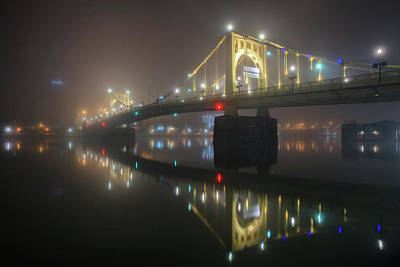 Photograph - Foggy Allegheny River by Emmanuel Panagiotakis