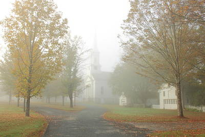 Photograph - Foggy Autumn Morning On The Common by John Burk
