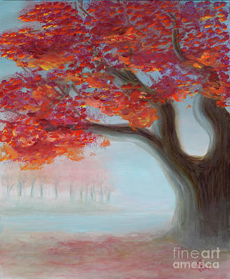 Painting - Foggy Autumn by Rebecca Parker