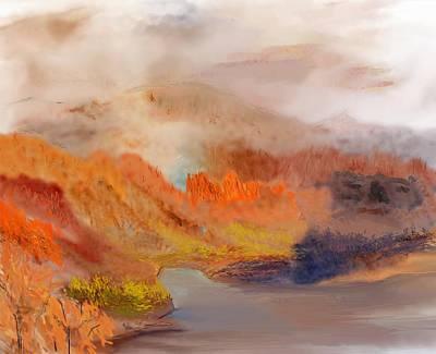Digital Art - Foggy Autumnal Dream by David Lane
