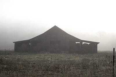 Photograph - Foggy Barn by Scott Sanders