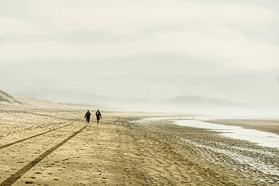 Photograph - Foggy Beach Morning - Oregon by Stuart Litoff