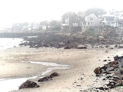 Painting - Foggy Beach by Paul Sachtleben