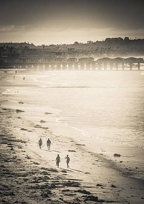 Photograph - Foggy Beach Walk by T Brian Jones