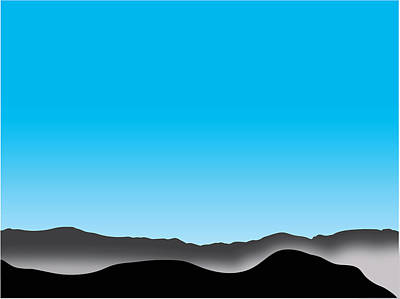 Digital Art - Foggy Blue Sky San Jacintos by Stan  Magnan