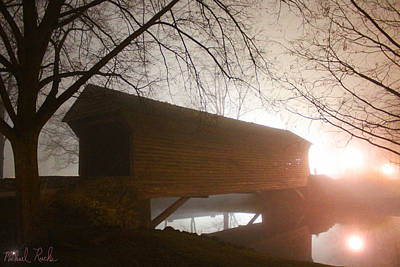 Photograph - Foggy Bridge by Michael Rucker