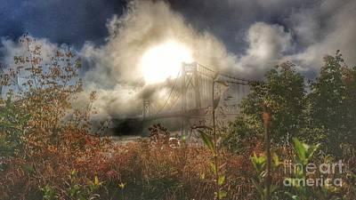 Photograph - Foggy Bridge by Scott Harrison