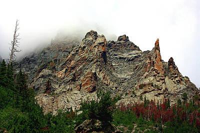 Photograph - Colorado Mountain In Fog by Sheila Brown