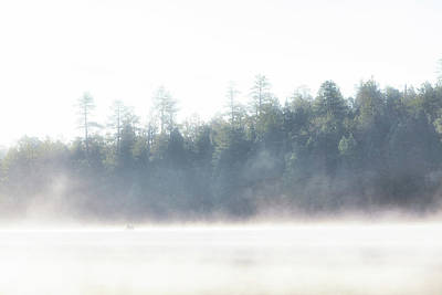 Photograph - Foggy Cool Morning On Lake In Woods by Susan Schmitz