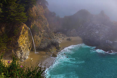 Of Big Sur Beach Photograph - Foggy Cove by Garry Gay