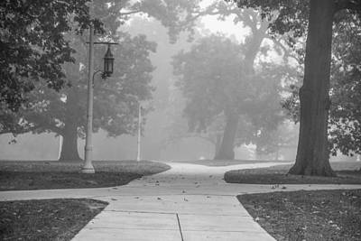 Photograph - Foggy Cross Path At Msu by John McGraw