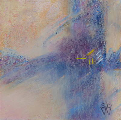 Pastel - Foggy Crossroad by Susan Woodward