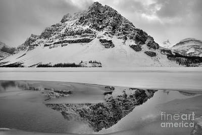 Photograph - Foggy Crowfoot Mountain Reflections by Adam Jewell