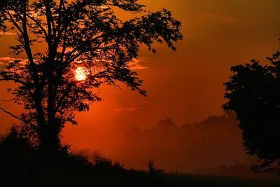 Photograph - Foggy Dawn 2 by Kathryn Meyer
