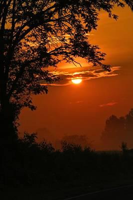 Photograph - Foggy Dawn 3 by Kathryn Meyer