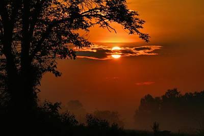 Photograph - Foggy Dawn 4 by Kathryn Meyer
