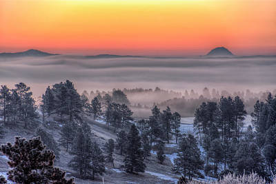 Photograph - Foggy Dawn by Fiskr Larsen