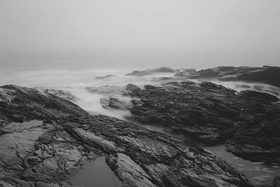 Photograph - Foggy Day At Beavertail by Andrew Pacheco