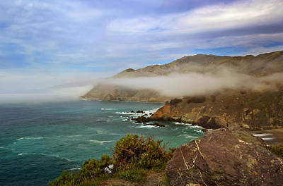 Christmas Trees - Foggy Day at Big Sur by Susan Rissi Tregoning