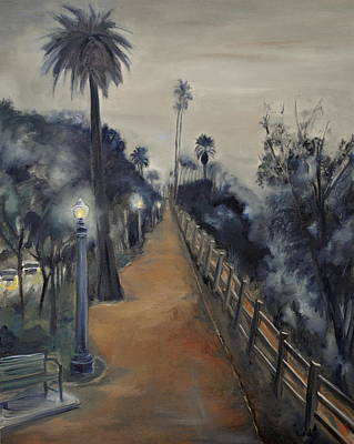 Painting - Foggy Day On Ocean Ave by Lindsay Frost