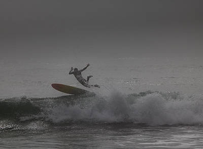 Photograph - Foggy Day Wipeout by Michael Gordon