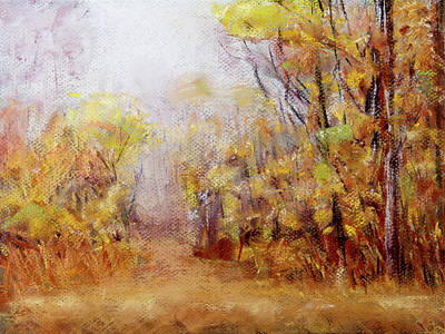 Painting - Foggy Fall Morning by Barry Jones