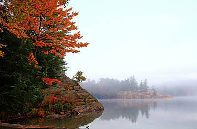 Photograph - Foggy Fall Morning by Debbie Oppermann
