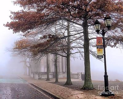 Photograph - Foggy Fall Morning by Janice Drew